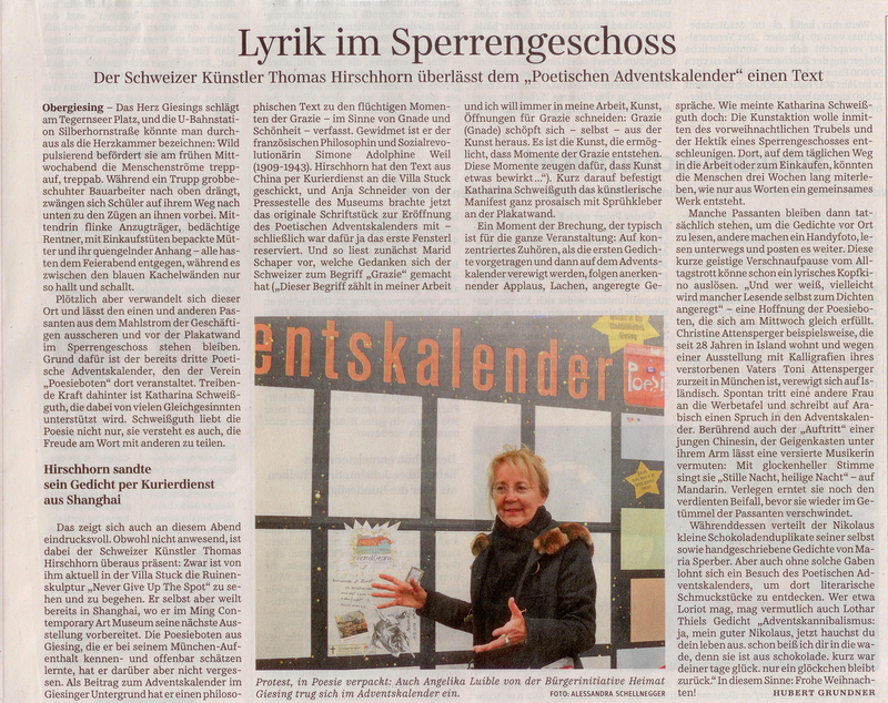 Lyrik im Sperrengeschoss